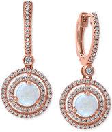 Effy Opal (3/4 ct. t.w) and Diamond (1/2 ct. t.w) Drop Earrings in 14k Rose Gold