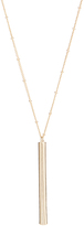 Carole Goldtone Vertical Bar Pendant Necklace