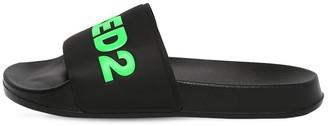 DSQUARED2 Logo Print Rubber Slide Sandals
