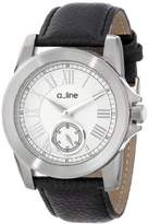 A Line a_line Women's AL-80022-02 Amare Dial Black Leather Band Watch
