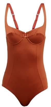 Reina Olga Bardot Underwired Swimsuit - Womens - Red