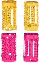 MagiDeal 100x 8mm Dreadlock Beads Adjustable Braiding Hair Rings Cuff Clips Tube *