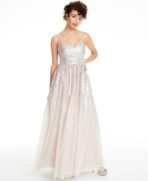 Brinker & Eliza Ombre Sequined Gown