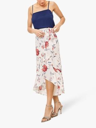 Oasis Floral Wrap Skirt, Multi