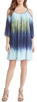 Karen Kane Women's Ombre Cold Shoulder Trapeze Dress