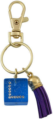 Little Miss Twin Stars Mileez Key Chain Accented With Initial