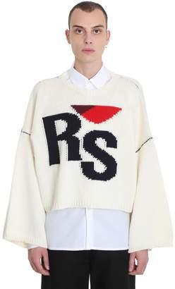 Raf Simons Knitwear In White Wool