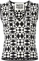 Fausto Puglisi geometric pattern knitted tank - women - Viscose/Polyimide - 42