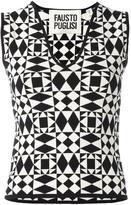 Fausto Puglisi geometric pattern knitted tank