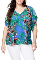 Rachel Roy Plus Size Women's Flutter Sleeve Top