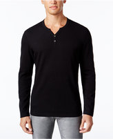 INC International Concepts Men's Alt Ottoman Stripe Split-Neck T-Shirt, Only at Macy's