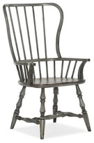 Hooker Furniture Ciaobella Modified Windsor Back Arm Chair in Gray