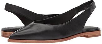 Frye Kenzie Slingback (Black Tumbled Buffalo) Women's Sling Back Shoes