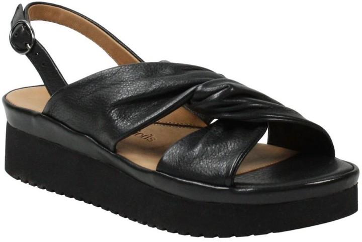 L'Amour des Pieds Leather Adjustable Sandals - Amiens