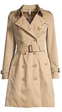 Burberry Women's Chelsea Tie-Waist Trench Coat