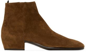 Saint Laurent Tan Suede Caleb Boots