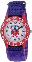 EWatchFactory Girl's 'Shark Week' Quartz Plastic and Nylon Sport Watch, Color:Purple (Model: WDC000062)