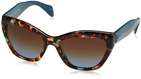 Prada 02QS NAG0A4 02QS Poeme Cats Eyes Sunglasses Lens Category 3,turquoise