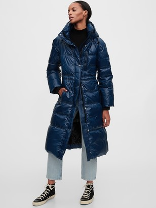 Gap Upcycled Long Puffer Coat