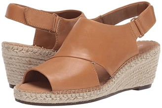 Clarks Petrina Abby (Light Tan Leather) Women's Wedge Shoes