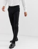 Burton Menswear wedding skinny fit suit pants in black