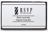 rsvp Skin Care for Men Black Lavender Organic Soap Bar