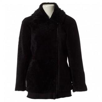 Designers Remix Black Shearling Jacket for Women