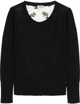 Temperley London Marnie wool-blend and lace cardigan