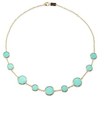 Ippolita Polished Rock Candy 18K Yellow Gold & Turquoise Necklace