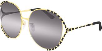 Gucci Round Metal Colorblock Sunglasses