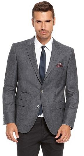 HUGO BOSS Johnston Regular Fit, Super 110 Italian Virgin Wool Sport Coat - Dark Blue