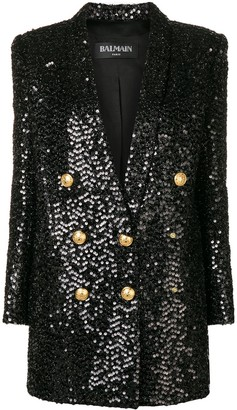 Balmain Sequin Blazer Dress