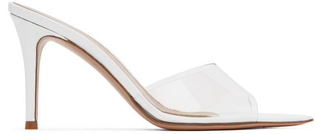Gianvito Rossi White Elle 85 Heeled Sandals