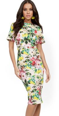 New York & Co. Floral Midi Sheath Dress