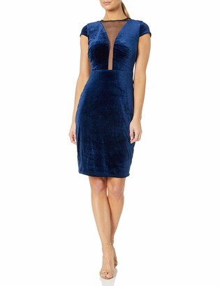 Marina Women's Plunge Neck Cocktail Dress