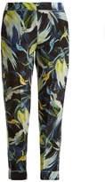 Erdem Giulia Night Bird-print silk cropped trousers
