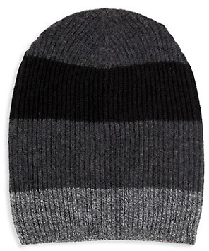 Saks Fifth Avenue Colorblock Cashmere Beanie