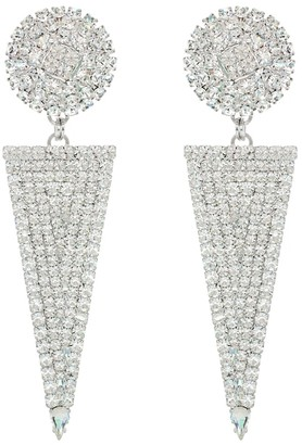 Alessandra Rich Embellished triangle earrings