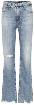 AG Jeans The Alexxis high-rise straight jeans