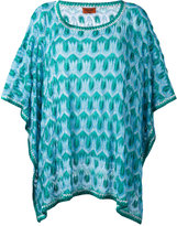 Missoni patterned knit tunic - women - Polyester/Cupro/Rayon - S