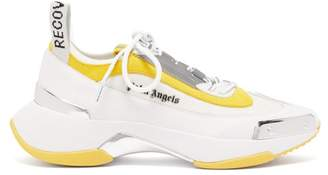 Palm Angels Recovery Contrast-panel Trainers - Mens - White Multi