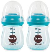 Joovy Boob PP Baby Bottle, Turquoise, 5 Ounce, 2 Count by