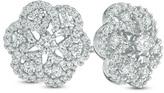 Zales 1 CT. T.W. Diamond Snowflake Stud Earrings in 10K White Gold