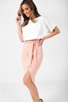 Iclothing iClothing Lainey Kimono Sleeve Two Tone Dress in Pink