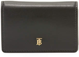 Burberry Leather Card Case with Detachable Strap
