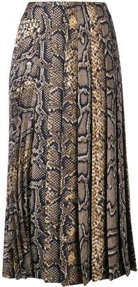 Victoria Beckham Pleated Midi Skirt High
