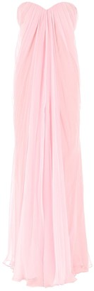 Alexander McQueen Strapess Draped Gown
