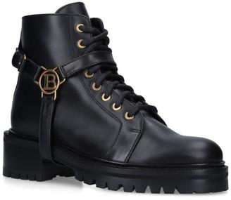 Balmain Leather Priska Ranger Boots 50