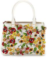 Prada Saffiano Garden Small Double-Zip Galleria Tote Bag