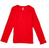 Soffe Red Long-Sleeve Crewneck Tee - Plus Too